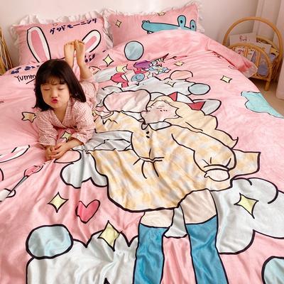 2019新款原创二次元宝宝绒套件 1.2m(4英尺)床单款 童话女孩
