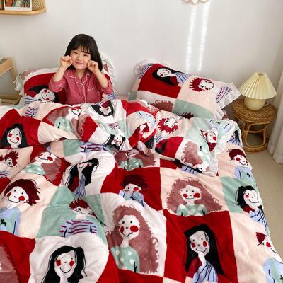 2019新款Chic少女花边牛奶绒套件-实拍图 1.5m床单款 巴黎故事