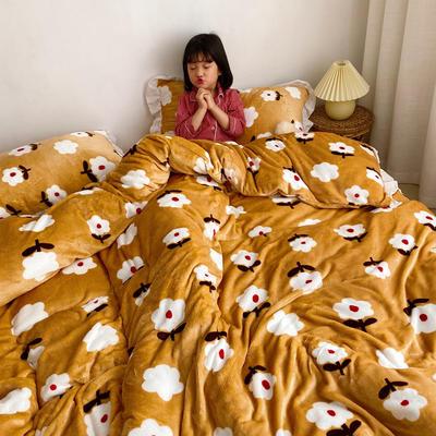 2019新款Chic少女花边牛奶绒套件-实拍图 1.5m床单款 复古小花