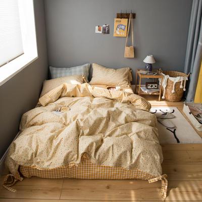 2020新款全棉韩式碎花套件 1.2m床单款三件套 奶咖雏菊