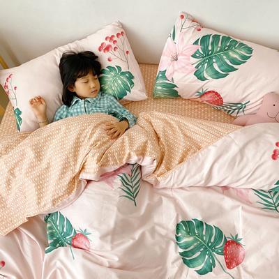 2020新款日系新花色四件套 1.8m(6英尺)床单款 丛林草莓