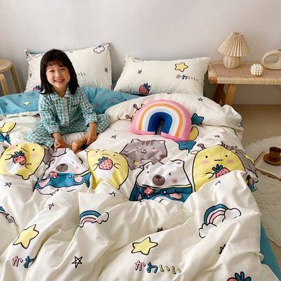 2020新款日系新花色四件套 1.8m(6英尺)床单款 可爱多