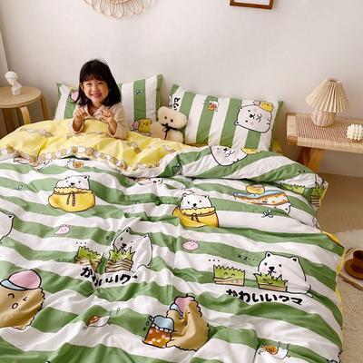 2020新款日系新花色四件套 1.8m(6英尺)床单款 美好生活