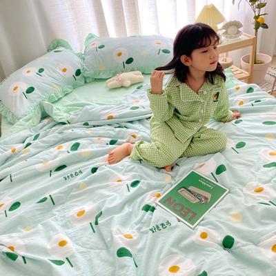 2020新款ins治愈系水洗棉夏被套件小模特图 200X230cm单夏被 日式小花