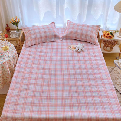 2020新款ins网红床单款冰丝席 230×250cm 冰丝席三件套 ins粉格