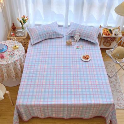2020新款ins网红床单款冰丝席 230×250cm 冰丝席三件套 冰淇淋格