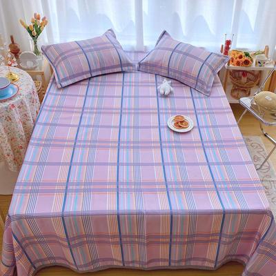 2020新款ins网红床单款冰丝席 230×250cm 冰丝席三件套 马卡龙紫