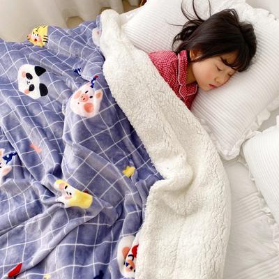 2020新款-ins网红风少女心温暖牌羊羔绒毯 200*230cm 动物庆典