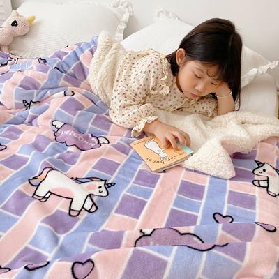 2020新款-ins网红风少女心温暖牌羊羔绒毯 200*230cm 独家马