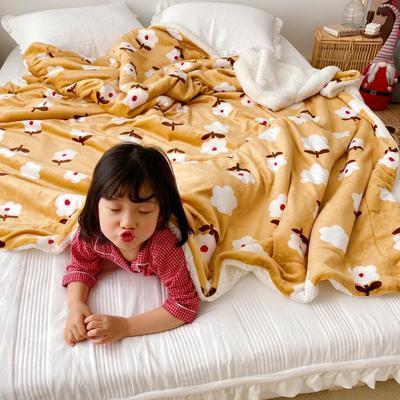 2020新款-ins网红风少女心温暖牌羊羔绒毯 200*230cm 复古小花
