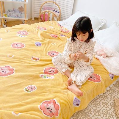 2020新款-ins网红风少女心温暖牌羊羔绒毯 200*230cm 可爱狮子