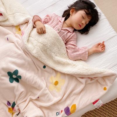 2020新款-ins网红风少女心温暖牌羊羔绒毯 200*230cm 泫雅花