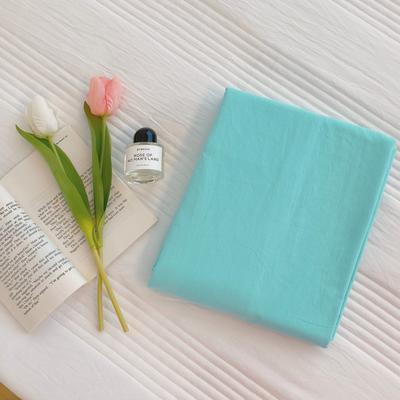 2020新款-混搭撞色水洗棉系列单品床单 245*250cm baby蓝