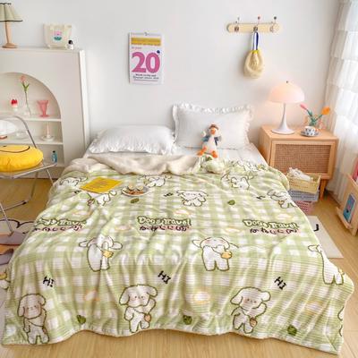 2020新款-牛奶魔法绒毛毯实拍图 200*230 背包小狗