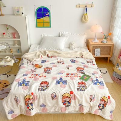 2020新款-牛奶魔法绒毛毯实拍图 200*230 少女假期