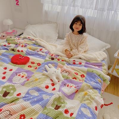 2020新款-牛奶魔法绒毛毯小模特图 200*230 春夏秋冬