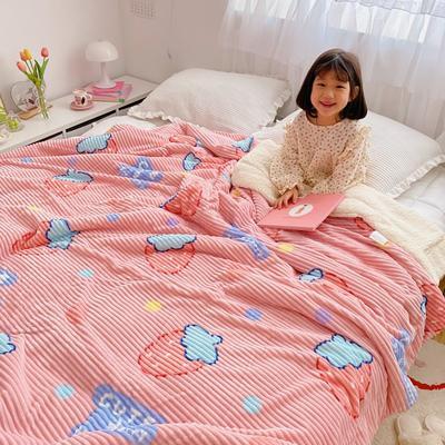 2020新款-牛奶魔法绒毛毯小模特图 200*230 甜心草莓