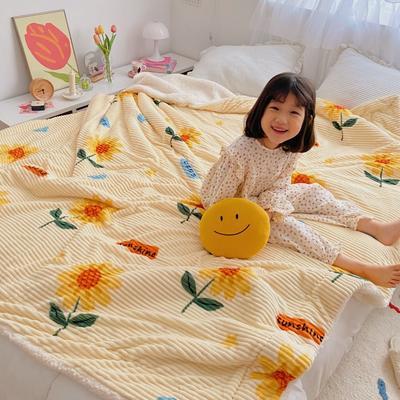2020新款-牛奶魔法绒毛毯小模特图 200*230 向日葵