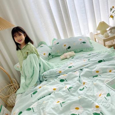 2021新款水洗棉夏被套件 150x200cm三件套 日系小花