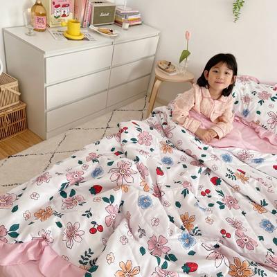 2021新款水洗棉夏被套件 150x200cm三件套 少女梦