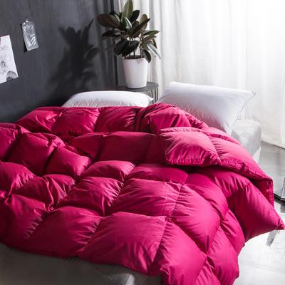 纯棉时尚超柔羽绒被(90%白鹅绒 100支) 200X230cm FD姹紫嫣红羽绒被