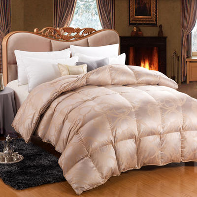 极品奢华真丝鹅绒被(95%白鹅绒  国产) 200X230cm 极品奢华真丝鹅绒被