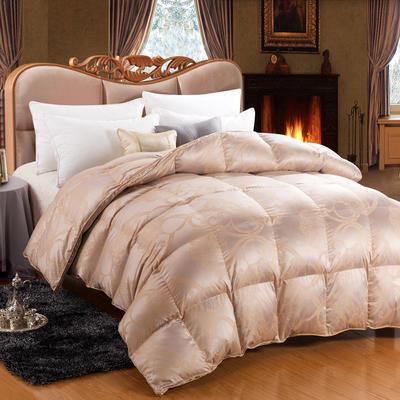 极品奢华真丝鹅绒被(95%白鹅绒 西伯利亚) 220x240cm 极品奢华真丝鹅绒被