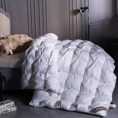 全棉立体扭花羽绒被(90%白鹅绒  100支) 220x240cm 全棉立体扭花羽绒被