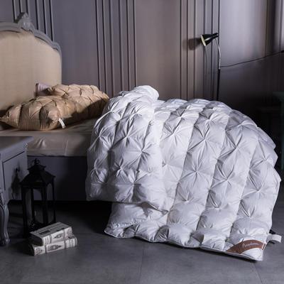 全棉立体扭花羽绒被(95%白鹅绒  100支) 220x240cm 全棉立体扭花羽绒被