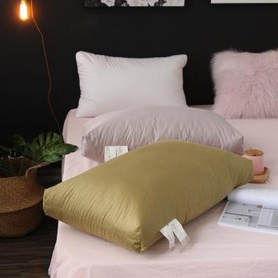 羽绒枕(舒适立体枕)48x74cm 果绿