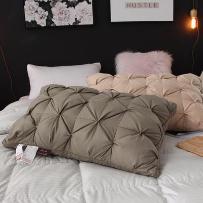 羽绒枕(臻芯羽绒枕)48x74cm 果绿(图片拍摄中)