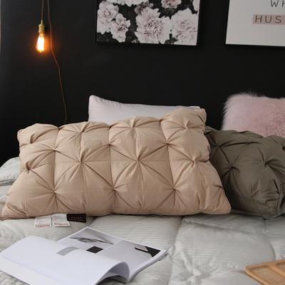 羽绒枕(臻芯羽绒枕)48x74cm 米色