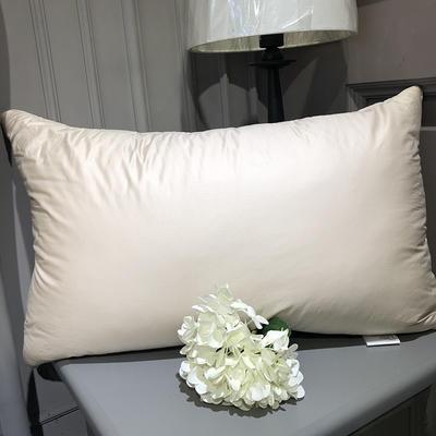 2018新款臻品鹅毛枕 48*74cm 米色