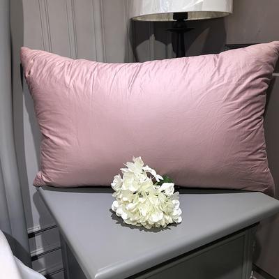 2018新款臻品鹅毛枕 48*74cm 粉色