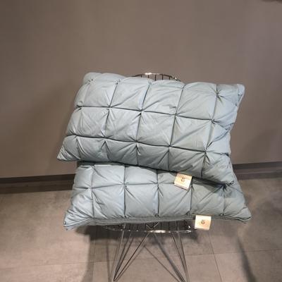 2019新款全棉多彩羽绒面包枕(74*48CM) 冰蓝