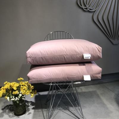 2019新款全棉经典立体羽绒枕(48*74CM) 豆沙