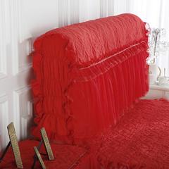 2018新款唯美蕾丝床头罩 150*65*35cm 大红