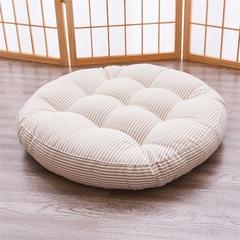 2018新款日式加厚榻榻米坐垫椅垫极简坐垫飘窗垫  日式 小圆垫 小圆直径42 条纹-黄