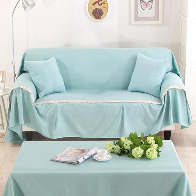 纯色细棉麻沙发巾沙发布艺时尚简约沙发套沙发罩 单独右贵妃170*260cm 自由时光