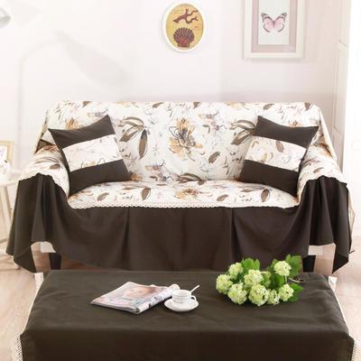 别墅样板房细棉麻全盖沙发巾沙发盖布地中海沙发套 单独右贵妃170*260cm 北卡