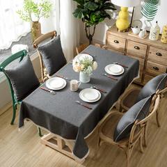 加厚竹节麻桌布茶几布台布长方形正方形可以用 90*90/条 黑灰时尚