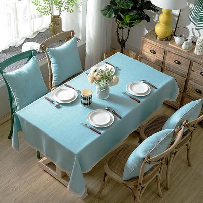 加厚竹节麻桌布茶几布台布长方形正方形可以用 90*90/条 蓝韵简爱