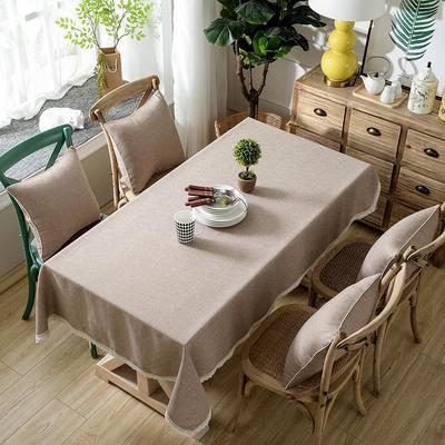 加厚竹节麻桌布茶几布台布长方形正方形可以用 90*90/条 牛奶咖啡