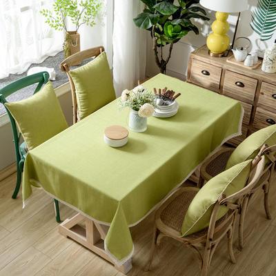加厚竹节麻桌布茶几布台布长方形正方形可以用 90*90/条 秋韵