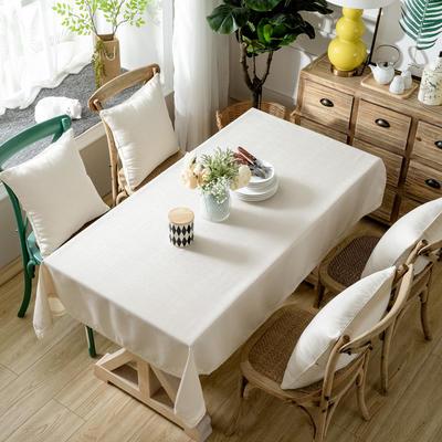 加厚竹节麻桌布茶几布台布长方形正方形可以用 90*90/条 小米黄