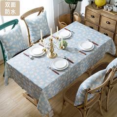 双面防水桌布布艺防烫防污餐桌布圆形长方形 130*170椅套 叶雨情深