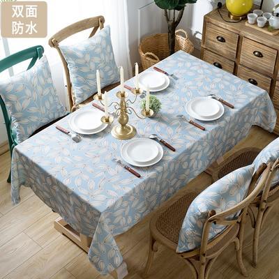 双面防水桌布布艺防烫防污餐桌布圆形长方形 抱枕套(45*45)/只 叶雨情深