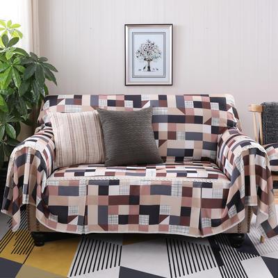 美式田园全盖沙发套沙发罩沙发巾 单独右贵妃170*260cm 格莱美浅咖