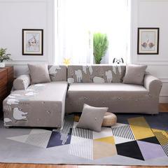 (总)新款卡通全包万能沙发套沙发罩沙发巾沙发垫通用型 抱枕套/只 北极熊
