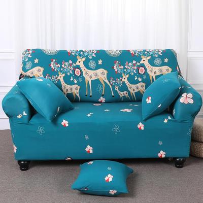 【总】2019款 卡通沙发套美式全包万能沙发套沙发罩沙发巾沙发垫通用型 三人190-230 幸福一家